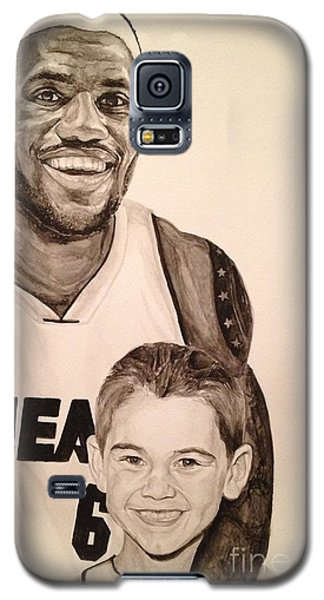 Galaxy S5 Case featuring the painting Lebron And Carter by Tamir Barkan