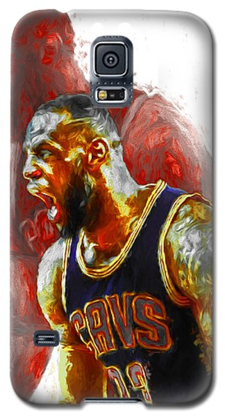 Lebron James 23 1 Cleveland Cavs Digital Painting Galaxy S5 Case