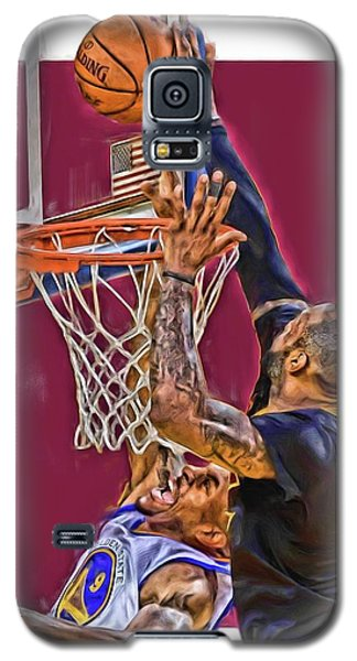 Lebron James Cleveland Cavaliers Oil Art Galaxy S5 Case