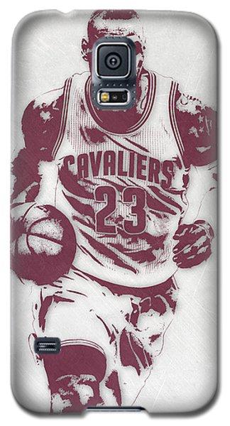 Lebron James Cleveland Cavaliers Pixel Art 4 Galaxy S5 Case by Joe Hamilton