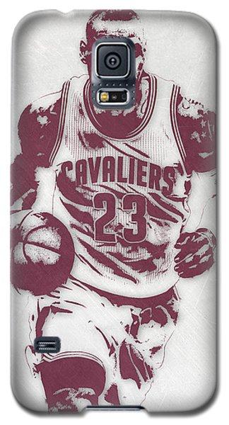 Lebron James Cleveland Cavaliers Pixel Art 4 Galaxy S5 Case