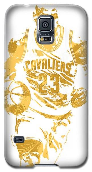 Lebron James Cleveland Cavaliers Pixel Art 7 Galaxy S5 Case by Joe Hamilton