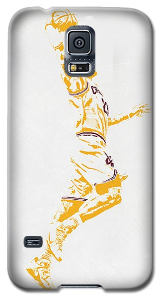 Lebron James Cleveland Cavaliers Pixel Art Galaxy S5 Case by Joe Hamilton
