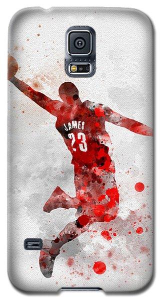 Lebron James Galaxy S5 Case by Rebecca Jenkins