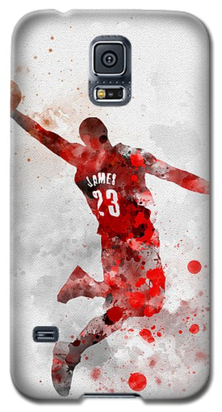 Lebron James Galaxy S5 Case by Rebecca Jenkins
