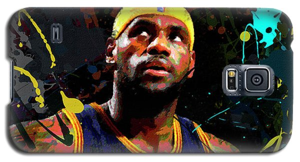 Galaxy S5 Case featuring the painting Lebron by Richard Day