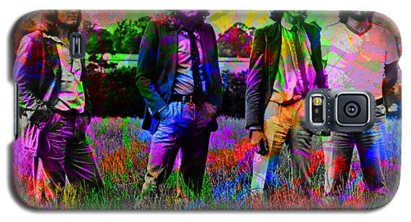 Led Zeppelin Band Portrait Paint Splatters Pop Art Galaxy S5 Case by Design Turnpike