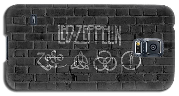 Led Zeppelin Brick Wall Galaxy S5 Case by Dan Sproul