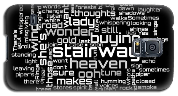 Led Zeppelin - Stairway To Heaven Lyrical Cloud Galaxy S5 Case