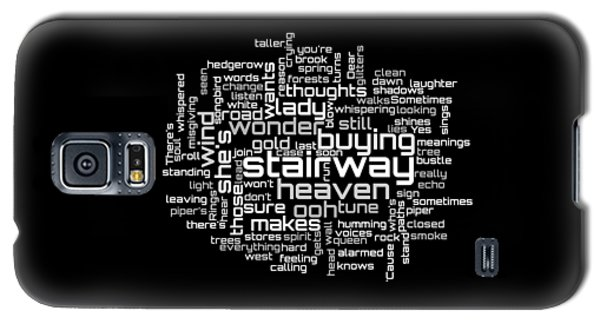 Led Zeppelin - Stairway To Heaven Lyrical Cloud Galaxy S5 Case