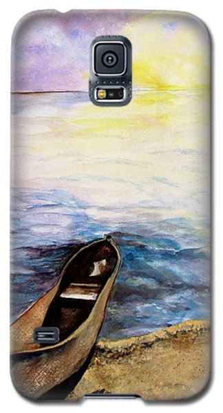 Galaxy S5 Case featuring the painting Left Alone by Lil Taylor