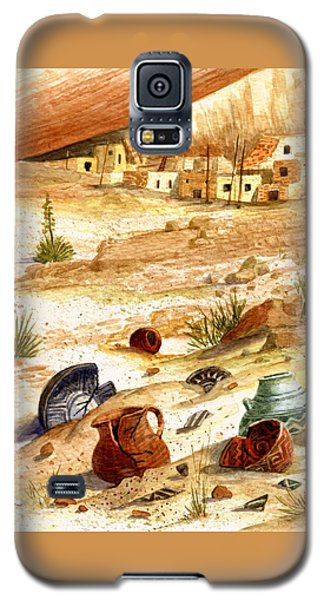 Galaxy S5 Case featuring the painting Left Behind - Indian Pottery by Marilyn Smith