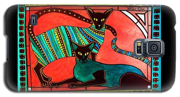 Legend Of The Siamese - Cat Art By Dora Hathazi Mendes Galaxy S5 Case by Dora Hathazi Mendes