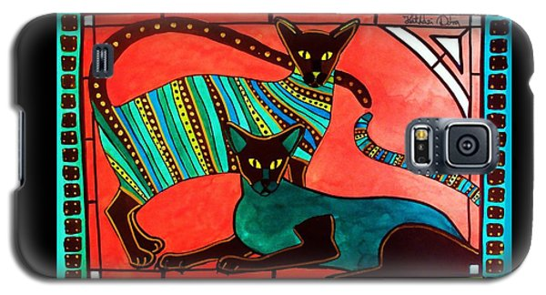 Legend Of The Siamese - Cat Art By Dora Hathazi Mendes Galaxy S5 Case