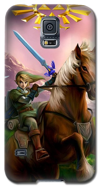 Legend Of Zelda- Link And Epona Galaxy S5 Case