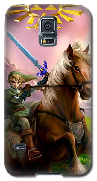 Legend Of Zelda- Link And Epona Galaxy S5 Case