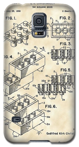 Lego Patent 1958 - Vintage Galaxy S5 Case by Stephen Younts