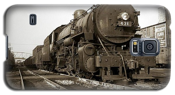 Lehigh Valley Steam Locomotive 431 At Wilkes Barre Pa. 1940s Galaxy S5 Case