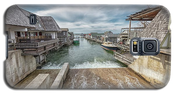 Galaxy S5 Case featuring the photograph Leland Michigan With Dam by John McGraw