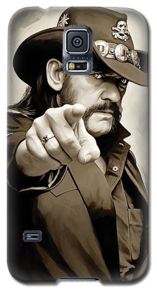 Galaxy S5 Case featuring the painting Lemmy Kilmister Motorhead Artwork 1 by Sheraz A