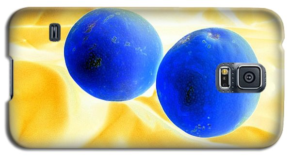 Lemon Blue Galaxy S5 Case by Florene Welebny