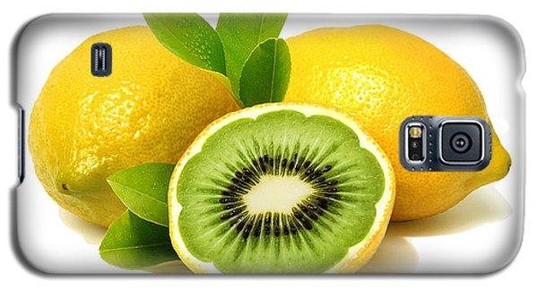 Galaxy S5 Case featuring the digital art Lemon Kiwi by ISAW Company