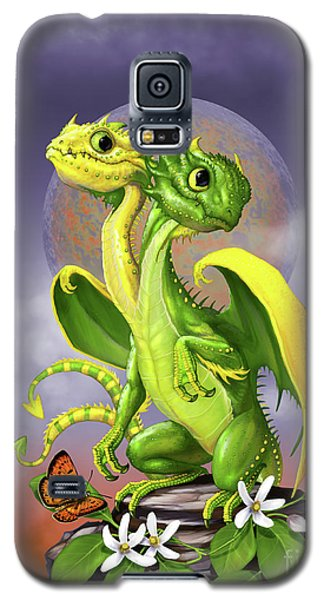 Galaxy S5 Case featuring the digital art Lemon Lime Dragon by Stanley Morrison