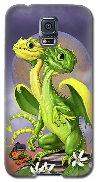 Lemon Lime Dragon Galaxy S5 Case