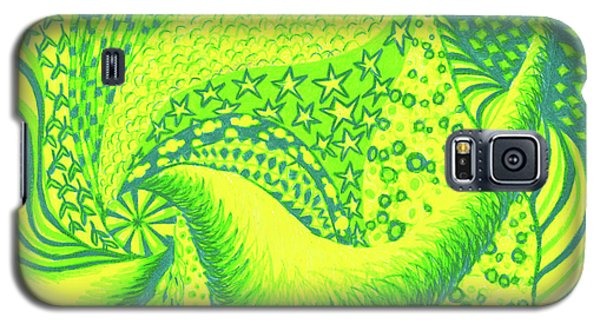 Galaxy S5 Case featuring the drawing Lemon Lime by Kim Sy Ok