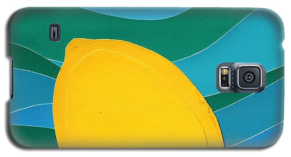 Galaxy S5 Case featuring the mixed media Lemon Slice by Vonda Lawson-Rosa