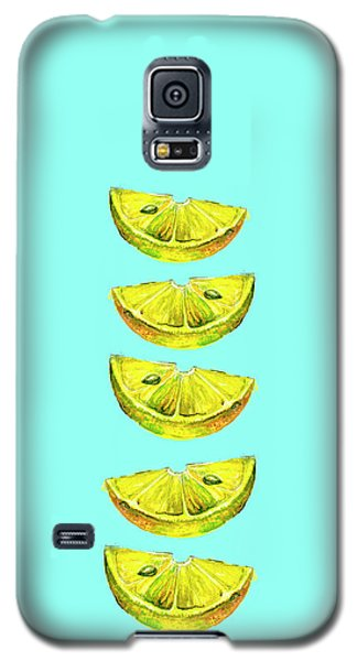 Lemon Slices Turquoise Galaxy S5 Case