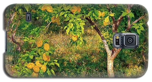 Galaxy S5 Case featuring the painting Lemon Tree by Henry Scott Tuke