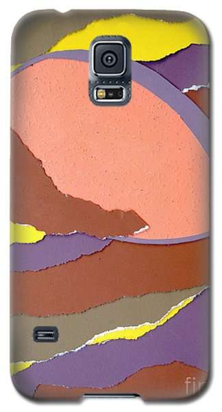 Galaxy S5 Case featuring the mixed media Lemon Twist by Vonda Lawson-Rosa