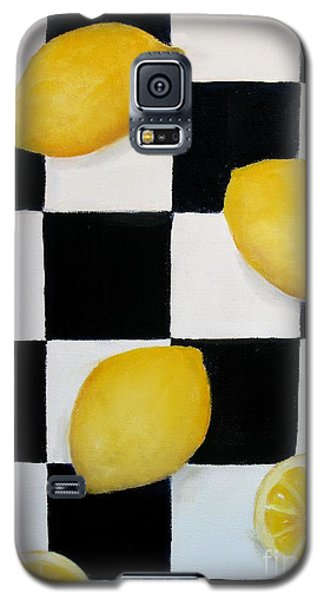 Galaxy S5 Case featuring the painting Lemons by Carol Sweetwood