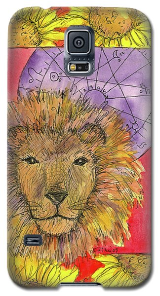 Galaxy S5 Case featuring the painting Leo by Cathie Richardson