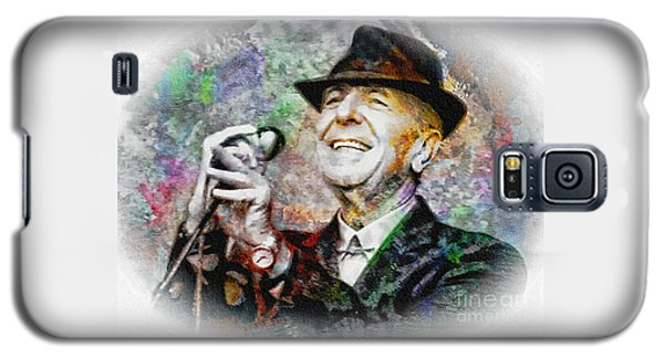 Leonard Cohen - Tribute Painting Galaxy S5 Case by Ian Gledhill