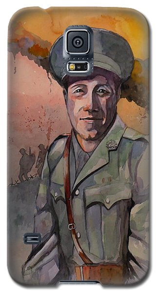 Galaxy S5 Case featuring the painting Leonard Keysor Vc by Ray Agius