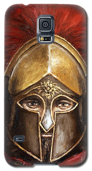 Galaxy S5 Case featuring the painting Leonidas by Arturas Slapsys