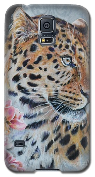 Leopard And Roses Galaxy S5 Case
