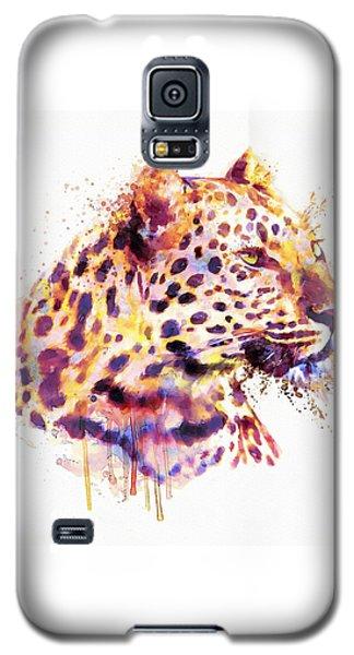 Leopard Head Galaxy S5 Case by Marian Voicu