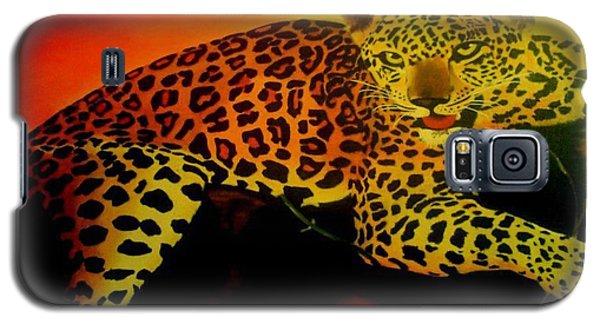 Leopard On A Tree Galaxy S5 Case by Manuel Sanchez
