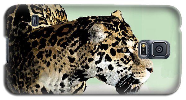 Galaxy S5 Case featuring the digital art Leopard by Walter Chamberlain