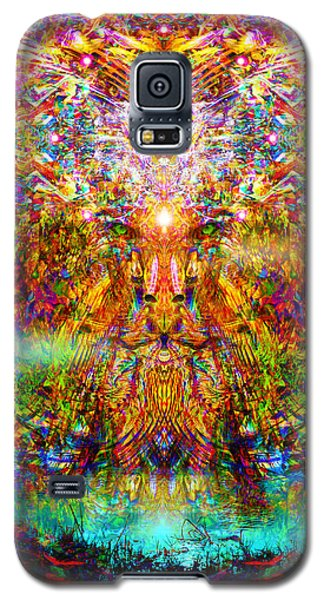 Galaxy S5 Case featuring the digital art Leototem by Jalai Lama