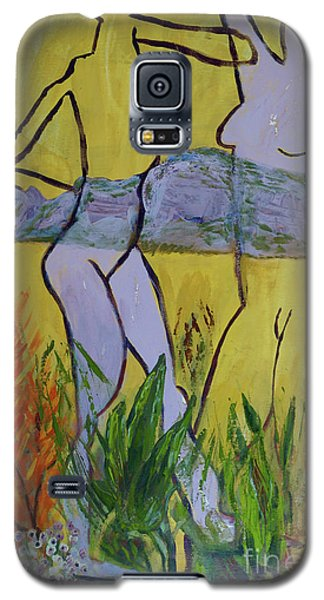 Galaxy S5 Case featuring the painting Les Nymphs D'aureille by Paul McKey