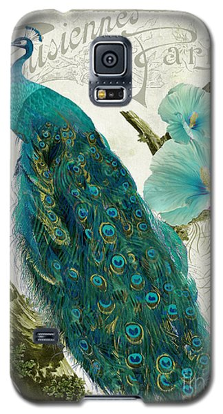Peacock Galaxy S5 Case - Les Paons by Mindy Sommers