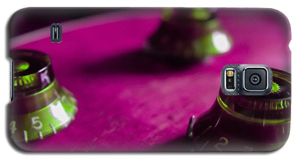 Guitar Controls Series Pink And Green Galaxy S5 Case