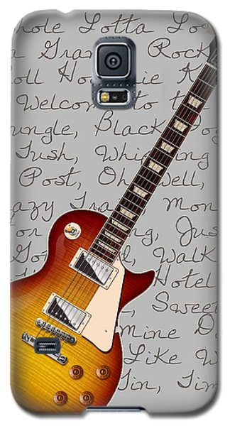 Les Paul Songs T-shirt Galaxy S5 Case by WB Johnston