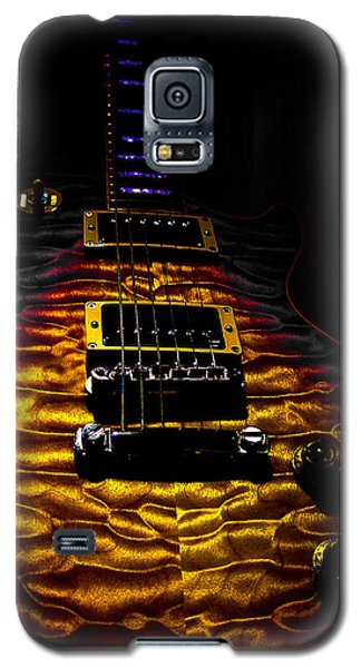 Tri-burst Quilt Top Guitar Spotlight Series Galaxy S5 Case