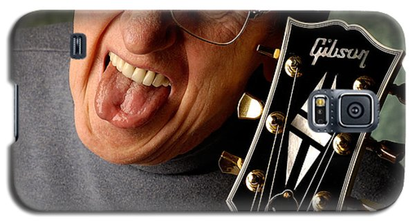 Les Paul With Tongue Out By Gene Martin Galaxy S5 Case