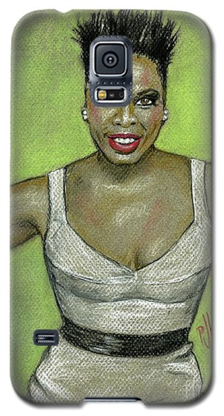 Galaxy S5 Case featuring the drawing Leslie Jones by P J Lewis